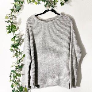 Label Of Graded Goods Gray Chunky Knit Sweater